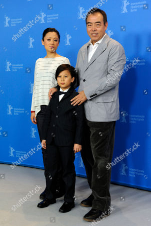 Chen Kaige, William Wang; Hong Chen Producer Hong Chen, actor William Wang and director Chen Kaige, from left, pose during a photo-call about the movie Zhao Shi Gu Er / Sacrifice at the International Film Festival Berlinale in Berlin on