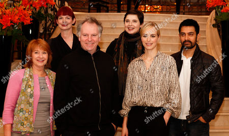 Isabella Rossellini, Jan Chapman, Nina Hoss, Aamir Khan, Guy Maddin, Sandy Powell The International Jury of the 61st International Film Festival Berlinale pose for a photo prior to the Jury's Dinner at the eve of the Berlinale at a Hotel in in Berlin on . From left, Jan Chapman, Sandy Powell, Guy Maddin, Isabella Rossellini, Nina Hoss, Aamir Khan