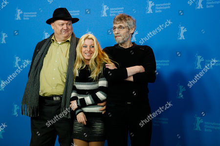 Mihaly Kormos, Erika Bok, Janos Derzsi Hungarian actors Mihaly Kormos, Erika Bok and Janos Derzsi, seen from left, attend a photo-call about the movie The Turin Horse at the International Film Festival Berlinale in Berlin on