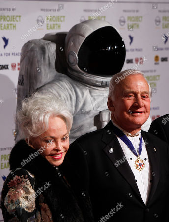 Buzz Aldrin, Lois Aldrin Astronaut Buzz Aldrin, right and his wife Lois arrive at the Cinema For Peace fund raising gala in Berlin