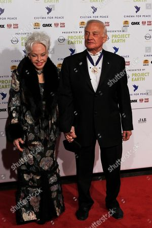 Buzz Aldrin, Lois Aldrin Astronaut Buzz Aldrin, right and his wife Lois arrive at the Cinema For Peace fund rising gala in Berlin on