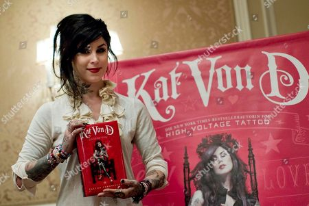Katherine von Drachenberg Tattoo artist Katherine von Drachenberg aka Kat Von D poses before a news conference to promote her latest book in Berlin, Germany