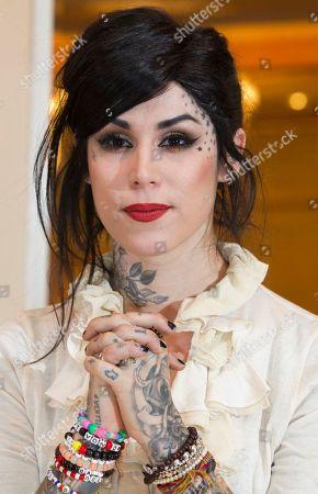 Katherine von Drachenberg Tattoo artist Katherine von Drachenberg aka Kat Von D poses before a news conference in Berlin, Germany