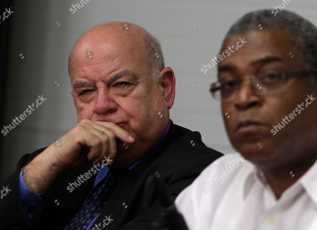 Jose Miguel Insulza, Secretary General of the Organization of American States, left, and Haiti Prime Minister Jean-Max Bellerive hold a press conference in Port-au-Prince, Haiti, . Insulza is in Haiti to discuss the presidential election crisis with Haiti's President Rene Preval and election officials. (AP Photo/Dieu Nalio Chery