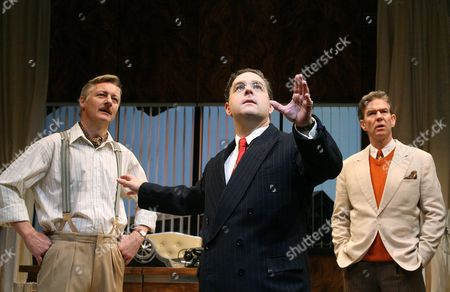 'Moonlight and Magnolias' - Duncan Bell (Ben Hecht), Andy Nyman (David Selznick) and Steven Pacey (Victor Fleming)