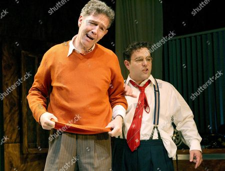 Stock Photo of 'Moonlight and Magnolias' - Steven Pacey (Victor Fleming) and Andy Nyman (David Selznick)
