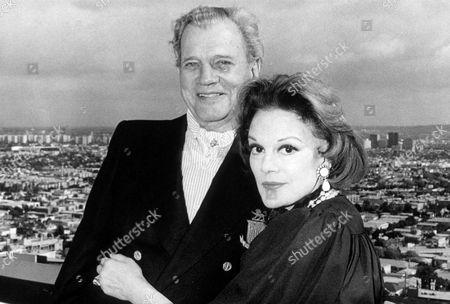 JOSEPH COTTEN AND WIFE, PATRICIA.