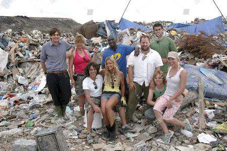 'Dumped' volunteers Back row - Reporter Rory Smith, Selena Lethbridge-Carr, Jermaine Liburd, Jason Blair, Ian Nash. Front Row - Jarvis Smith, Sasha Gardner, Aaron Twitchen, Sylvia Niemojewska