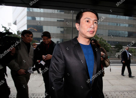 """Ronald Singson Philippine Rep. Ronald Singson, the son of Luis """"Chavit"""" Singson, a provincial governor in the Philippines, arrives at the Hong Kong's District Court, . A final testimony started Thursday against Singson who was allegedly caught with cocaine at the Hong Kong airport in last July"""