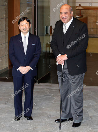 George Tupou V, Naruhito Tonga's King George Tupou V, right, is welcomed by Japanese Crown Prince Naruhito at Togu Palace, Naruhito's residence, prior to their meeting in Tokyo