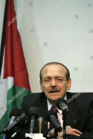"""Yasser Abed Rabbo Yasser Abed Rabbo, secretary general of the Palestine Liberation Organization, speaks to the media in the West Bank city of Ramallah, . Palestinians were prepared to compromise over two of the toughest issues, Jerusalem and refugees, during peace talks in 2008, according to a report by the Al-Jazeera TV channel broadcast Sunday that quoted from documents it said came from the talks. Rabbo told reporters on Monday the news network engaged in """"media games"""", saying the report relied on out-of-context quotes, insinuations and outright fabrications"""