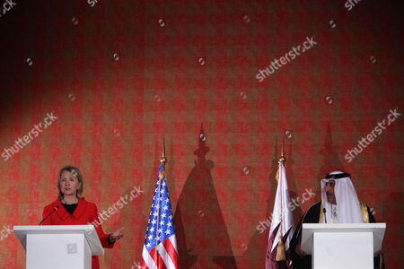 "Hillary Rodham Clinton, Hamad bin Jassim bin Jaber bin Muhammad Al Thani Qatar's Prime Minister Sheikh Hamad bin Jassim bin Jaber bin Muhammad Al Thani, right, listens as U.S. Secretary of State Hillary Rodham Clinton talks during a press conference in Doha, Qatar, . Lebanon's year-old unity government collapsed Wednesday after Hezbollah ministers and their allies resigned over tensions stemming from a U.N.-backed tribunal investigating the 2005 assassination of former Prime Minister Rafik Hariri. Clinton said the Obama administration was ""consulting closely with concerned parties and nations as to the best way forward to preserve the sovereignty, stability and independence of Lebanon and the needs of the Lebanese people"