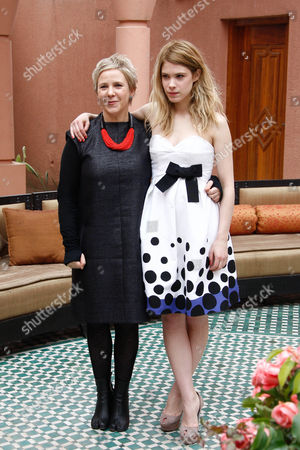 """Stock Picture of Hande Kodja, Sophie Schoukens Belgian film director and screenwriter Sophie Schoukens, left, and Belgian actress Hande Kodja pose during a photo call in Marrakech Morocco . Schoukens' movie """"Marieke Marieke"""" is competing at the 10th Marrakech International Film Festival which runs through Dec. 3-11"""