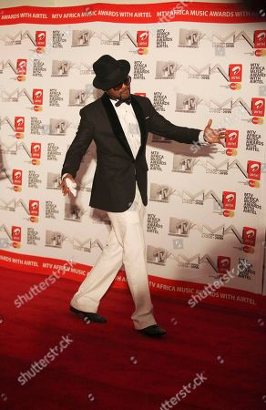 Stock Image of Banky W Nigerian artist Banky W, a nominee for the Best Video Awards, arrives for the MTV Africa Music Awards in Lagos, Nigeria