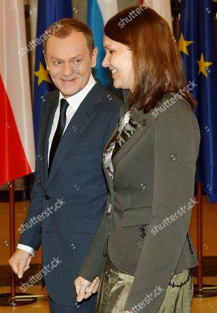Mari Johanna Kiviniemi, Donald Tusk Finland's Prime Minister, Mari Johanna Kiviniemi, right, is being greeted by her Polish counterpart Donald Tusk in Warsaw, Poland on Wednesday, Jan.19, 2011, ahead of bilateral talks