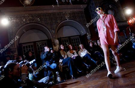 Joana de Verona Portuguese actress Joana de Verona wears a creation by U.S actor John Malkovich during the Estoril Film Festival on at the Conde Castro Guimaraes museum in Cascais, near Lisbon