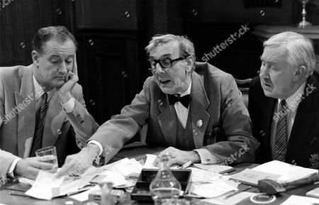 L-R.John Quayle, Eric Sykes and Ivor Roberts  in '19th Hole' - 1989
