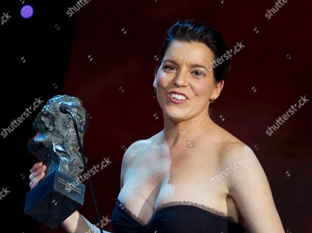 Laia Marull Laia Marull holds her best supporting actress Goya award for Pan negro during the annual Goya film awards in Madrid . AP Photo/Paul White