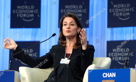 Melissa French Gates Co-Chair of the Melinda Gates Foundation, USA, Melinda French Gates speaks during a session at the World Economic Forum in Davos, Switzerland on . In a nod to the post-crisis atmosphere, the World Economic Forum shifts its attention on Friday to austerity measures and priorities for improving the economy