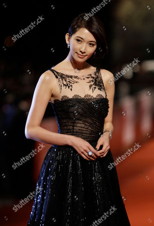 Lin Chiling Taiwanese actress Lin Chiling poses on the red carpet at the 47th Golden Horse Awards, in Taoyuan County, northern Taiwan