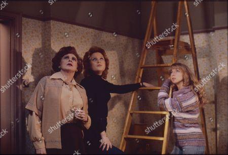 Pat Phoenix (as Elsie Howard) Cheryl Murray (as Suzie Birchall) and Helen Worth (as Gail Potter)