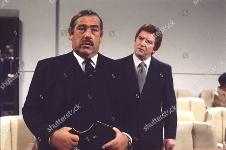 Patrick Newell and Peter Adamson (as Len Fairclough)