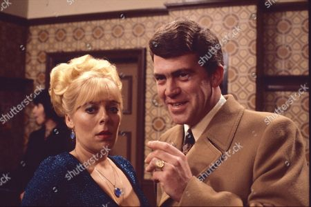 Stock Photo of Graham Weston (as George Livesey) and Julie Goodyear (as Bet Lynch)