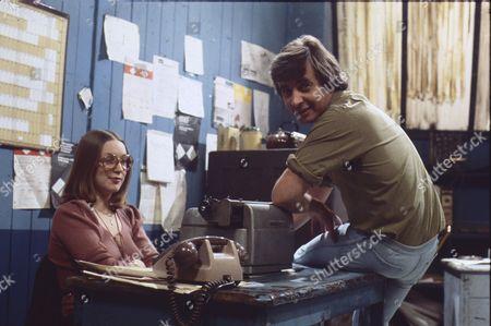 Anne Kirkbride (as Deirdre Langton) and Neville Buswell (as Ray Langton)