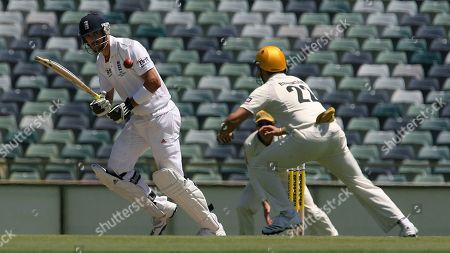 Wes Robinson, Kevin Pietersen West Australia's Wes Robinson fields a ball of England batsman Kevin Pietersen during their three-day cricket match at the WACA Ground in Perth, Australia
