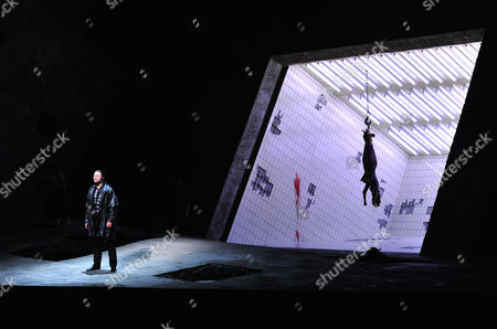 """Rene Pape Rene Pape in the role of Orest performs during a dress rehearsal for the opera """"Elektra"""" from Richard Strauss,, in Salzburg, Austria. Premiere is on Sunday, Aug. 8, 2010 as part of the Salzburg Festival"""