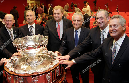 Francesco Ricci Bitti International Tennis Federation President Francesco Ricci Bitti, third right, stands with local tennis federation members after the draw for the Davis Cup 2011 at BNP Paribas headquarters in Brussels on . The United States will travel to Chile for its first World Cup group match in the 2011 Davis Cup, its second tough South American opponent in a row