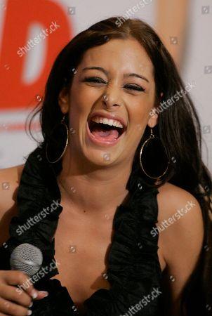 Larissa Riquelme Paraguayan model Larissa Riquelme laughs during a press conference in Sao Paulo, Brazil