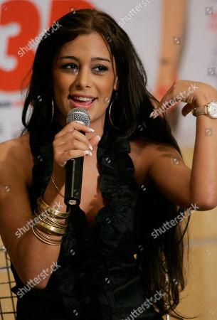 Larissa Riquelme Paraguayan model Larissa Riquelme speaks during a press conference in Sao Paulo, Brazil