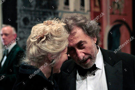 """Howard Jacobson British author Howard Jacobson, right, accompanied by his wife, Jenny, react after he was announced as the winner of the Man Booker Prize for Fiction 2010, at central London's Guildhall, late . British writer Howard Jacobson won the prestigious Booker Prize Tuesday with his philosophical comedy """"The Finkler Question,"""" beating five other writers, including two-time winner Peter Carey and the bookies' favorite, Tom McCarthy"""