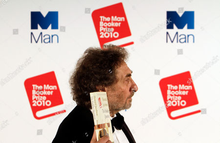 """Howard Jacobson British author Howard Jacobson, displays his book 'The Finkler Question', winner of the Man Booker Prize for Fiction2010, following the announcement at central London's Guildhall, late . British writer Howard Jacobson won the prestigious Booker Prize Tuesday with his philosophical comedy """"The Finkler Question,"""" beating five other writers, including two-time winner Peter Carey and the bookies' favorite, Tom McCarthy"""