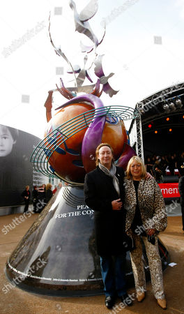 Julian Lennon, Cynthia Lennon The son and wife of singer, songwriter John Lennon, Julian, left, and Cynthia Lennon, right, at the unveiling of a European peace monument dedicated to the memory of ex-Beatle John Lennon in Chavasse Park, Liverpool, England, . The unveiling of a peace monument entitled Peace and Harmony celebrates what would have been John Lennon's 70th birthday. Inscription reads 'Peace on Earth for the Conservation of Life. In Harmony of John Lennon 1940-1980