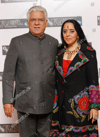 Om Puri, Ila Arun Indian actors Om Puri and Ila Arun pose, during a London Film Festival photocall of West is West, at a central London cinema, . The festival runs until Oct. 28