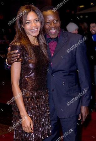 Naomie Harris, Oliver Litondo Actors Naomie Harris and Oliver Litondo arrive for the London Film Festival screening of The First Grader, at a central London cinema, . The festival runs for a fortnight until 28 October
