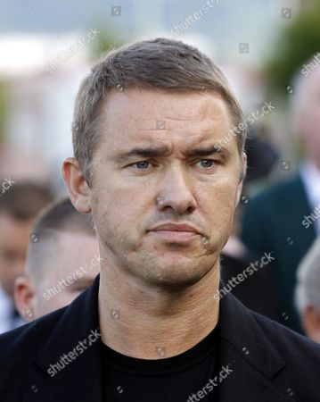 Snooker player Stephen Hendry attends the funeral of former world snooker champion Alex Higgins in South Belfast, Northern Ireland