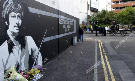 Editorial photo of Britain Northern Ireland Alex Higgins Funeral, Belfast , Gbr Xni