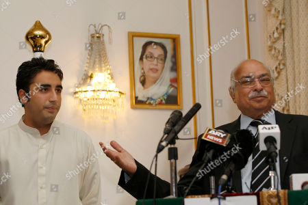 Bilawal Bhutto Zardari, Wajid Shamsul Hasan Chairman of Pakistan Peoples Party, Bilawal Bhutto Zardari, left, listens to Pakistan High Commissioner, Wajid Shamsul Hasan during the launch of a donation point for victims of the floods ravaging northern Pakistan at the Pakistan High Commission in London, . Bilawal Bhutto Zardari, son of late Benazir Bhutto, canceled plans to attend a political rally in Birmingham, England, after his father, President Asif Ali Zardari came under fire for visiting Europe while Pakistan faced its worst floods in 80 years