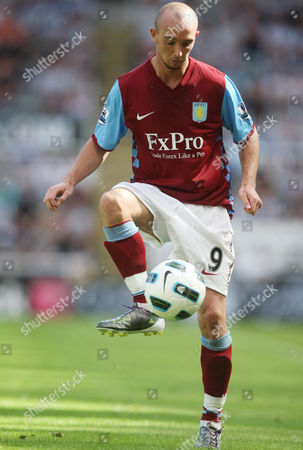 Stock Photo of OTK Aston Villa's Stephen Ireland, control's the ball, during their English Premier League soccer match against Newcastle United at St James' Park, Newcastle, England, . (AP Photo/Scott Heppell) ** NO INTERNET/MOBILE USAGE WITHOUT FOOTBALL ASSOCIATION PREMIER LEAGUE(FAPL)LICENCE. CALL +44