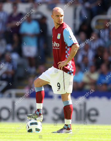 Stock Picture of OTK Aston Villa's Stephen Ireland, control's the ball, during their English Premier League soccer match against Newcastle United at St James' Park, Newcastle, England, . (AP Photo/Scott Heppell) ** NO INTERNET/MOBILE USAGE WITHOUT FOOTBALL ASSOCIATION PREMIER LEAGUE(FAPL)LICENCE. CALL +44