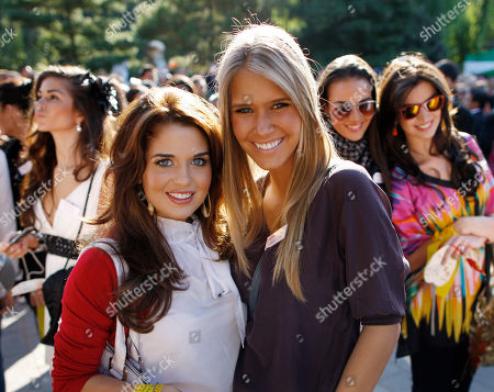 Alexandria Mills, Courtenay Hamilton Miss World contestant Alexandria Mills of the U.S., right, poses with Courtenay Hamilton of Wales while visiting the Badachu Park Temple in Beijing, China . Contestants from 120 countries will compete in the 60th Miss World Final to be held on Sanya Island, China on Oct. 30, 2010