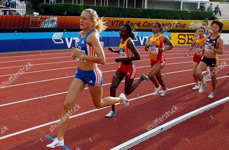 Yuliya Zarudneva Russia's Yuliya Zarudneva, left, competes in the 3,000 meters steeplechase during the IAAF Continental Cup in Split, Croatia, . Zarudneva won the event