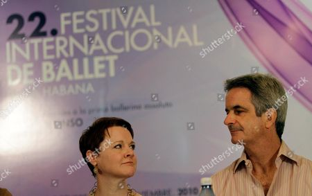 Rachel Moore, Kevin Mc Kencie Rachel Moore, left, and Kevin Mc Kencie, executive director and artistic director of the American Ballet Theater respectively, attend a press conference in Havana, Cuba, . The American Ballet Theater will perform in Cuba for the first time in 50 years