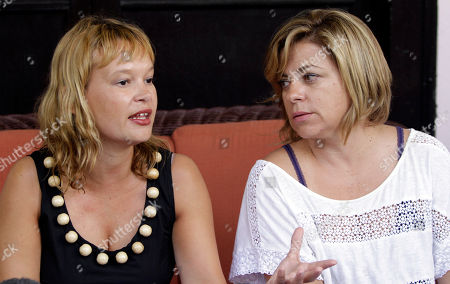 Leire Pajin, Elena Valenciano Members of the Spanish Socialist Workers' Party, PSOE, Organizing Secretary Leire Pajin, left, and Secretary of International Policy and Cooperation Elena Valenciano, attend a press conference in Havana, Cuba