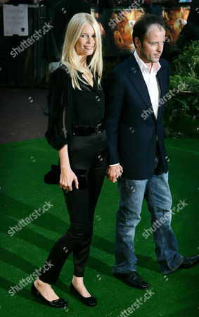 Stock Picture of Claudia Schiffer and Matthew Vaughan
