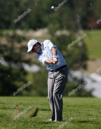 Peter Lawrie Peter Lawrie from Ireland plays a fairway shot during the PGA European Tour 2010 Czech Open golf tournament in the north east village of Celadna, Czech Republic, . Lawrie took second share position