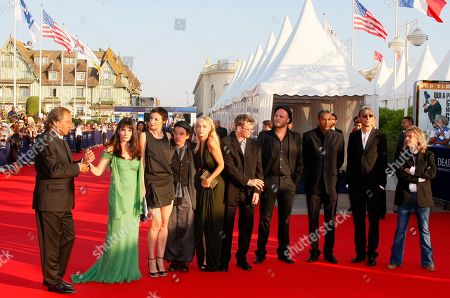 Tony Gatlif, Christine Citti, Jeanne Balibar, Denis Lavant, Emmanuelle Beart, Lucas Belvaux, Fabrice Du Welz, Abderrahmane Sissako, Faouzi Bensaidi, Nilda Fernandez The jury of the 36th American film festival of Deauville arrives at the opening of the Festival. Left to right, directors Tony Gatlif, Christine Citti, French actress Jeanne Balibar, French actor Denis Lavant, French actress and President of the Jury Emmanuelle Beart, directors Lucas Belvaux, Fabrice Du Welz, Abderrahmane Sissako, and Faouzi Bensaidi and French singer Nilda Fernandez, in Deauville, Normandy, France